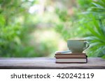 notebook with pencil and... | Shutterstock . vector #420242119