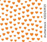 seamless hearts pattern with... | Shutterstock .eps vector #420243925