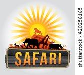 Vector illustration of wildlife. Safari theme   Shutterstock vector #420256165