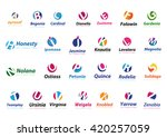 logo collection  letters... | Shutterstock .eps vector #420257059