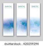 abstract vector vertical banner.... | Shutterstock .eps vector #420259294