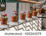 balcony flowers | Shutterstock . vector #420261079