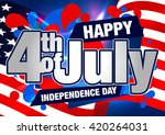4th july. happy fourth of july... | Shutterstock .eps vector #420264031