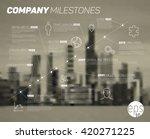 vector timeline infographic... | Shutterstock .eps vector #420271225