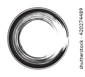 circle shape vector black... | Shutterstock .eps vector #420274489