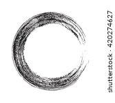 circle shape vector black... | Shutterstock .eps vector #420274627