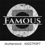 famous with chalkboard texture | Shutterstock .eps vector #420279397