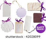 collection of  purple tags - stock photo