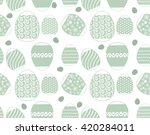 seamless easter egg background... | Shutterstock .eps vector #420284011