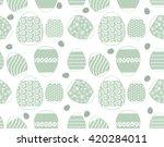 seamless easter egg background...   Shutterstock .eps vector #420284011