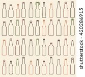 beer bottles vector collection  ... | Shutterstock .eps vector #420286915