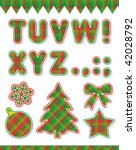Christmas Vector Abc Set  Part...