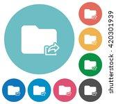 flat export folder icon set on...