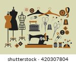 set of isolated vector elements ... | Shutterstock .eps vector #420307804