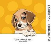Puppy Beagle. Vector...