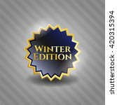 winter edition golden emblem | Shutterstock .eps vector #420315394