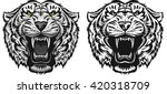 tiger face tattoo | Shutterstock .eps vector #420318709