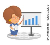 business woman character... | Shutterstock .eps vector #420322279