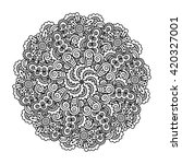 round element for coloring book. | Shutterstock .eps vector #420327001