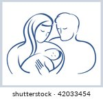 schematic illustration.happy... | Shutterstock .eps vector #42033454