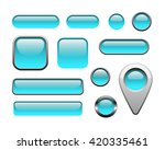 glossy and metallic web buttons ... | Shutterstock .eps vector #420335461