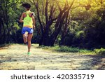 young fitness woman trail... | Shutterstock . vector #420335719