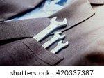 working tools in the...   Shutterstock . vector #420337387