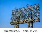 steel frame for large billboard ... | Shutterstock . vector #420341791