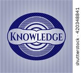 knowledge badge with denim... | Shutterstock .eps vector #420348841