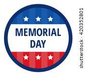memorial day color badge in... | Shutterstock .eps vector #420352801