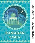 ramadan  greeting   with the... | Shutterstock .eps vector #420354304