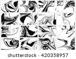 set of abstract backgrounds.... | Shutterstock .eps vector #420358957