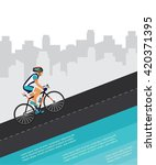 cycling competition   race... | Shutterstock .eps vector #420371395
