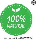 100  natural stamp.vector   Shutterstock .eps vector #420375724