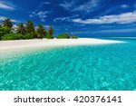 White Sandy Tropical Beach Wit...