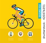 gps computers and apps for bike ... | Shutterstock .eps vector #420376351
