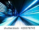 automated guide way train at... | Shutterstock . vector #420378745
