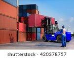 foreman control loading... | Shutterstock . vector #420378757