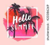 hello summer. modern... | Shutterstock .eps vector #420386269