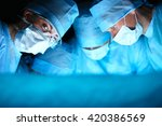 young surgery team in the... | Shutterstock . vector #420386569