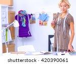 modern young fashion designer... | Shutterstock . vector #420390061