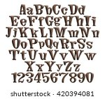 3d alphabets with number on... | Shutterstock . vector #420394081