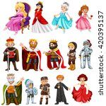 different characters of king... | Shutterstock .eps vector #420395137