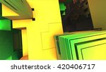 3d illustration of abstract... | Shutterstock . vector #420406717