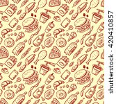 vector seamless pattern with... | Shutterstock .eps vector #420410857