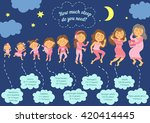 sleep is a necessity  not a... | Shutterstock .eps vector #420414445