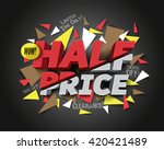 half price sale with abstract... | Shutterstock .eps vector #420421489