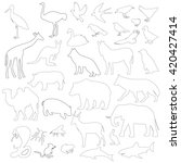 animals on a white background... | Shutterstock .eps vector #420427414