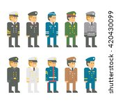flat design soldier uniform set ... | Shutterstock .eps vector #420430099