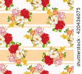 seamless floral pattern with... | Shutterstock .eps vector #420436075